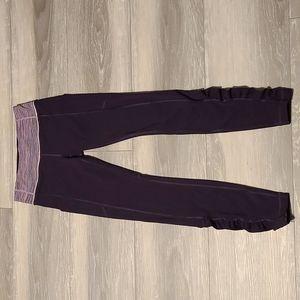 RARE Lululemon Speed Tight in Black Grape/Space Dye Camo Tender Violet